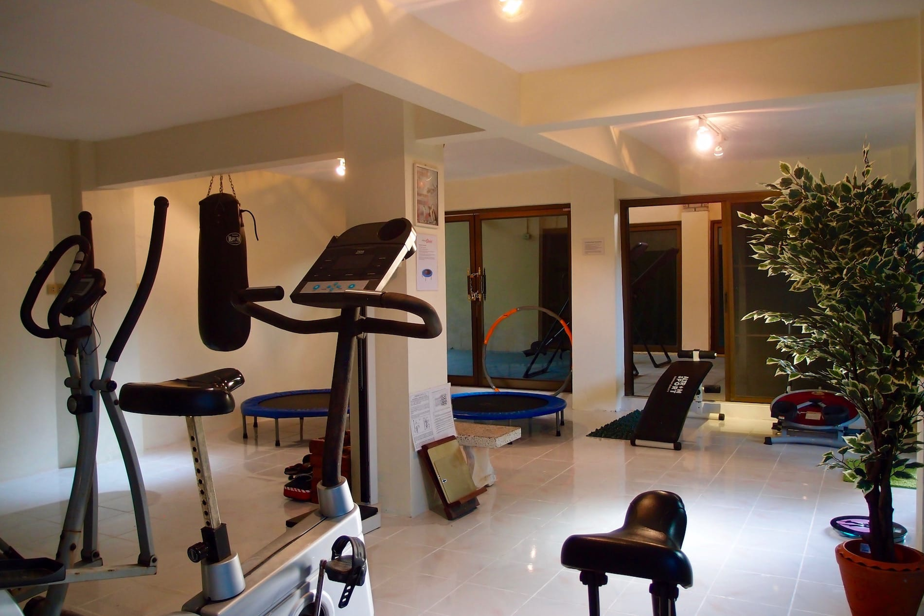 Renovated gym at Health Oasis Resort detox Samui