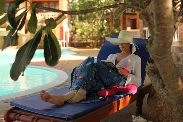Relaxation by the pool detox health oasis resort